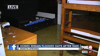 Bonita Springs community still flooded following days without rainfall - Video