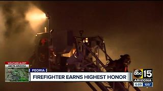Peoria firefighter to receive Medal of Valor at White House for fiery rescue - Video