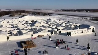 World's largest snow maze in Canada