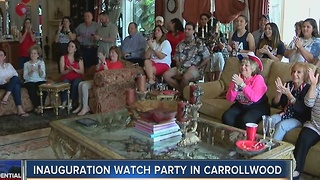 Inauguration watch party in Carrollwood - Video
