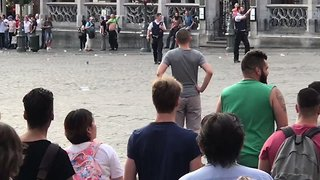 Police Apprehend Man Following Security Incident in Brussels - Video