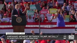 Sen. McSally brushes off awkward moment with President Trump