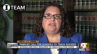 Families call for schools to track student suicides - Video