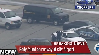 Body found at City Airport - Video