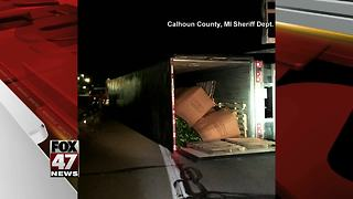 Truck crashes, spills cucumbers on I-94 - Video