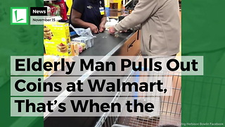 Walmart Cashier Helps Nervous Elderly Man Struggling to Buy Groceries with Change