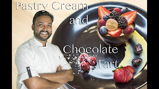 Delicious   Pastry Cream With Chocolate Tart-മലയാളം.