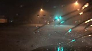 Roads Flooded in Bridge City as Harvey Makes Second Landfall - Video