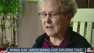 Woman sues Tarpon Springs over exploding toilet to prevent future incidents - Video