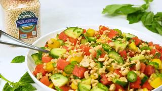 Cucumber, Couscous, Basil and Watermelon Salad - Video