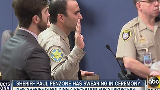 Paul Penzone sworn is as new Maricopa County sheriff - Video