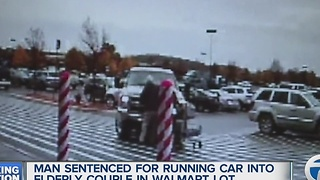 Man sentenced for running car into elderly couple in Walmart lot - Video