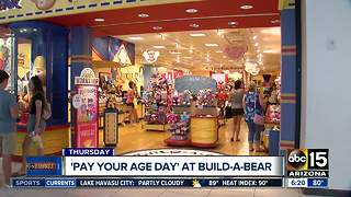 'Pay Your Age Day' at Build-A-Bear