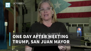 One Day After Meeting Trump, San Juan Mayor Wears Questionable Shirt During Live Interview - Video