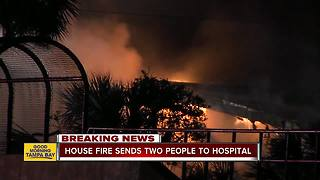 Two injured in Apollo Beach house fire - Video