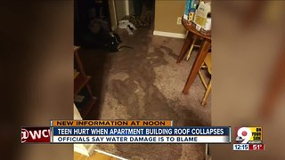 Roof collapse at apartment building