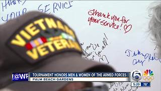 Honda Classic golf tournament honors veterans