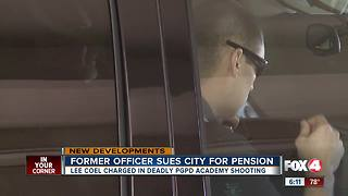 Fired officer suing city for pension - Video