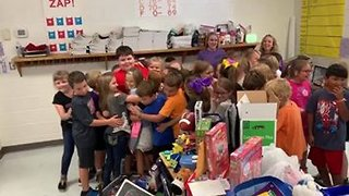 Kid Who Lost Everything In House Fire Surprised With Toys From Students