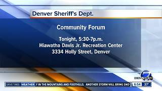Denver Sheriff holds community forum