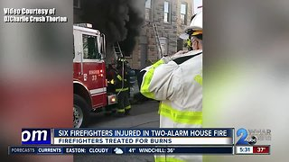 6 firefighters injured while battling Baltimore fire