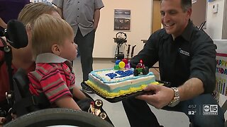 Viral Target Boy, Ollie, got a birthday surprise