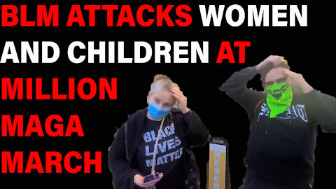 BLM Harassing WOMEN AND CHILDREN at Million MAGA March!
