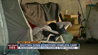 Downtown Cincinnati homeless camp to be cleared out by week's end - Video