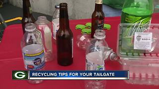 Brown County leaders remind tailgaters to recycle - Video