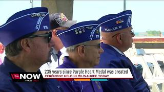 Purple Heart recipients honored at War Memorial Center - Video