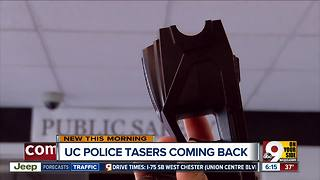 Tasers are back at the University of Cincinnati Police Department - Video