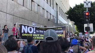 Protesters Chant 'No Fascist USA' in Los Angeles Rally - Video