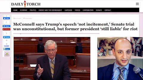 If McConnell says Trump broke no law in Jan. 6 speech,why does he think Trump may be legally liable?