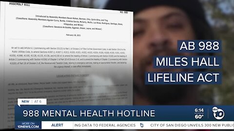 AB 988 would establish mental health hotline