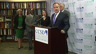 Full press conference on school district and union deal