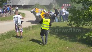 Big crash captured at rally in Estonia - Video