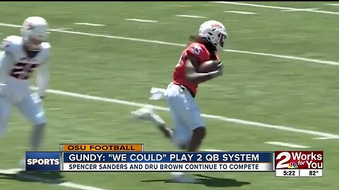 """Mike Gundy: """"We could"""" use 2 QB System"""