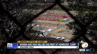 Women and kids will be the first shuttled into homeless camp - Video