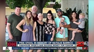 Pink stool raises money for cancer research in honor of Natalie Barrick