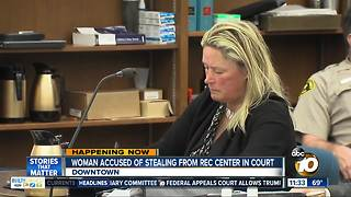 Hearing for woman accused of stealing money from La Jolla Recreation center - Video
