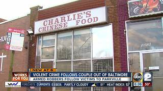 Violent crime follows couple out of Baltimore - Video