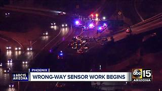 Crews working to install wrong-way technology - Video