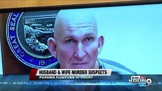 Husband and wife murder suspects plead not guilty
