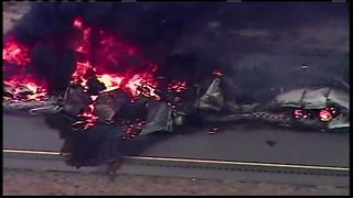 I-65 closed in Jackson Co. after semi fire - Video