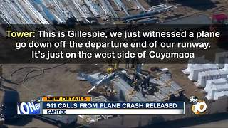 911 calls from Santee plane crash released - Video
