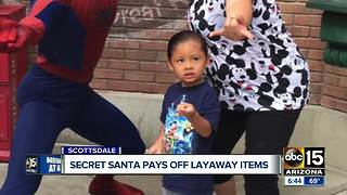 Secret Santa pays off layaway items for Valley woman - Video