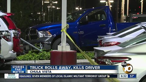Man killed after trying to stop truck that was rolling away