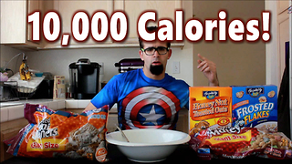 10,000 Calories of Breakfast Cereal Challenge! #Carbs - Video