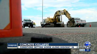 Cracked U.S. 36 still shifting, and there's no timeline for when it will reopen