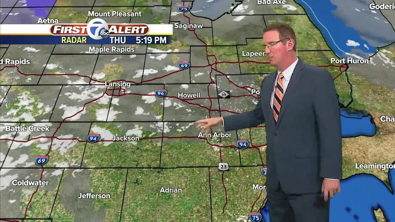 Evening flurries, cold start Friday
